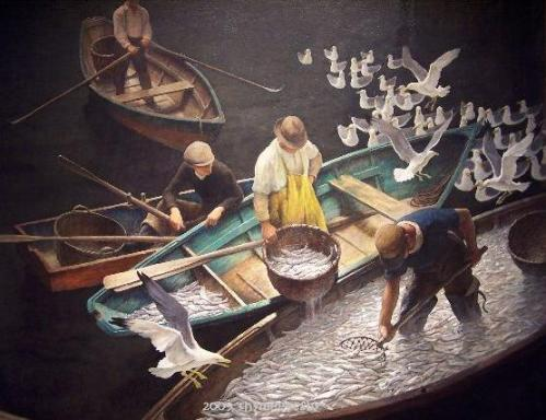 N.C. Wyeth -- Dark Harbor Fishermen